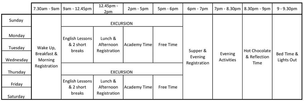 Junior Timetable